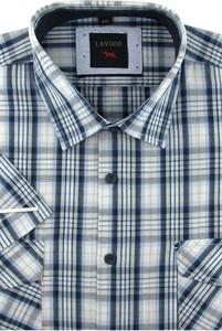 Koszula Laviino z długim rękawem z tkaniny z klasycznym kołnierzykiem