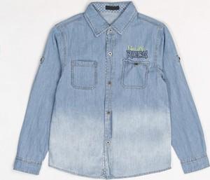 Niebieska koszula dziecięca born2be z jeansu