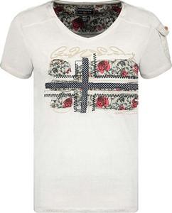 T-shirt Geographical Norway w młodzieżowym stylu z okrągłym dekoltem