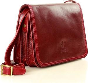 Czerwona torebka Vera Pelle w stylu glamour średnia