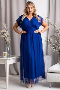 Niebieska sukienka KARKO z tiulu