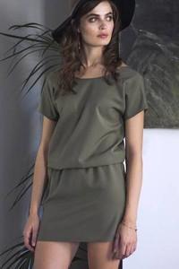 Zielona sukienka Kozacki Mops mini oversize z bawełny