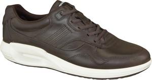 Buty sportowe Ecco sznurowane ze skóry