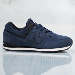 Niebieskie buty sportowe New Balance 574 z płaską podeszwą w sportowym stylu