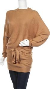 Brązowa tunika TWINTIP z długim rękawem