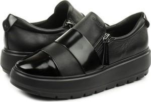 Czarne buty sportowe Geox w stylu casual