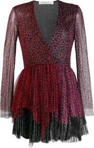 Sukienka Philosophy di Lorenzo Serafini z dekoltem w kształcie litery v z długim rękawem