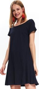 Sukienka Top Secret w stylu casual z dekoltem w łódkę z krótkim rękawem