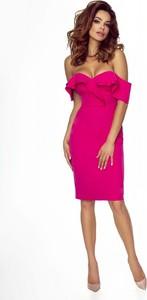 Sukienka Bergamo z krótkim rękawem ołówkowa