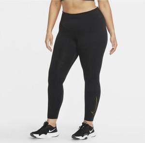 Damskie legginsy Nike One Icon Clash (duże rozmiary) - Czerń