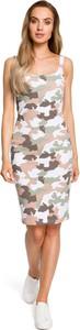 Sukienka MOE mini na ramiączkach z dzianiny
