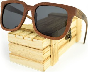 Drewniane okulary przeciwsłoneczne Niwatch Tucana Grey