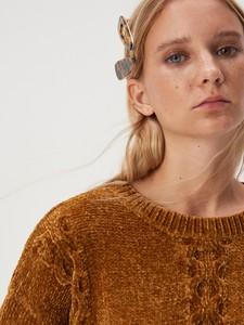 Brązowy sweter Sinsay