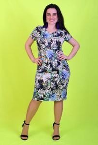 Sukienka Oscar Fashion z dekoltem w kształcie litery v