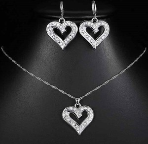 Izmael.eu Zestaw Silver Heart - Srebrny