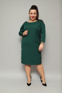 Zielona sukienka KARKO ołówkowa z długim rękawem midi