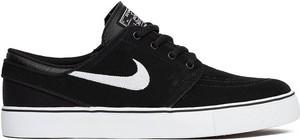 Czarne trampki Nike stefan janoski z płaską podeszwą sznurowane