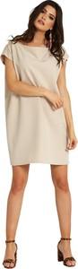 Sukienka Ivon z krótkim rękawem mini z okrągłym dekoltem