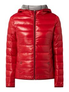 Czerwona kurtka Q/s Designed By - S.oliver z kapturem w stylu casual