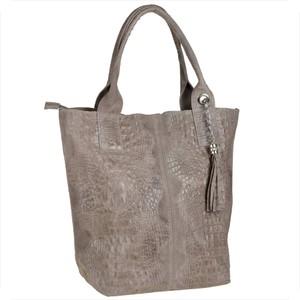 Brązowa torebka Borse in Pelle w wakacyjnym stylu