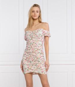 Sukienka Guess hiszpanka z krótkim rękawem mini