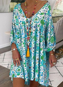 Sukienka Sandbella mini oversize z długim rękawem