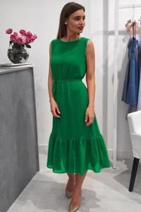Sukienka Ivet.pl bez rękawów z okrągłym dekoltem