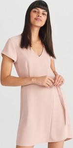 Sukienka Reserved trapezowa z krótkim rękawem