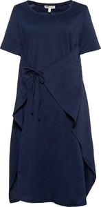 Niebieska sukienka Ulla Popken oversize w stylu casual