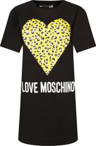 Sukienka Love Moschino prosta z krótkim rękawem