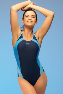 Winner damski kostium kąpielowy alinka1 jednoczęściowy niebieski