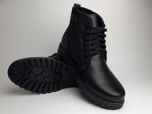 Czarne buty zimowe Obuwiekrezus