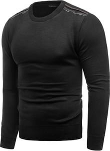 Czarny sweter Risardi z okrągłym dekoltem