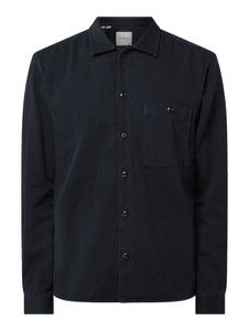 Czarna koszula Selected Homme z klasycznym kołnierzykiem z bawełny z długim rękawem
