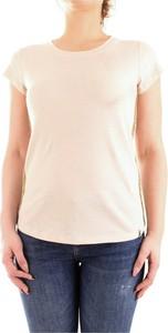 T-shirt Patrizia Pepe z lnu z krótkim rękawem