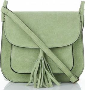 Zielona torebka VITTORIA GOTTI ze skóry średnia przez ramię