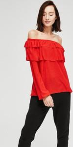 Czerwona bluzka Diverse z długim rękawem