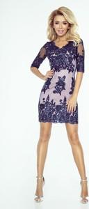 Sukienka imesia.pl w stylu glamour ołówkowa w hafciane wzory