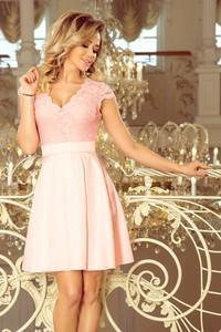 Sukienka NUMOCO z krótkim rękawem z dekoltem w kształcie litery v