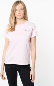 Różowa bluzka Champion z krótkim rękawem