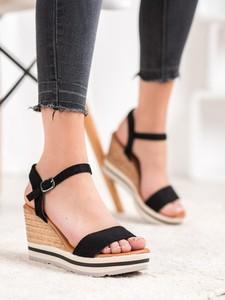 Sandały Czasnabuty na platformie z zamszu