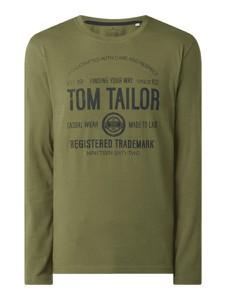 Zielony t-shirt Tom Tailor w młodzieżowym stylu