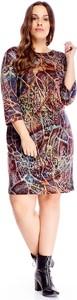 Sukienka Ptakmoda.com dla puszystych mini w stylu casual