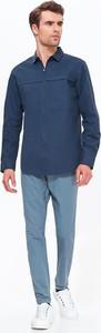 Granatowa koszula Top Secret z długim rękawem