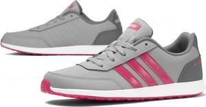 Buty sportowe Adidas ze skóry sznurowane z płaską podeszwą
