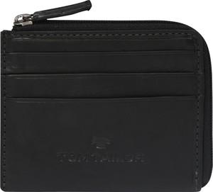 Czarny portfel męski Tom Tailor ze skóry
