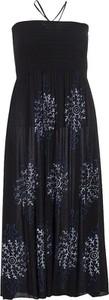 Czarna sukienka Coline z dekoltem w kształcie litery v