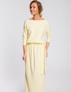 Sukienka MOE maxi z bawełny