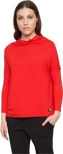 Czerwona bluzka By Insomnia z golfem
