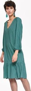 Zielona sukienka Top Secret w stylu casual midi